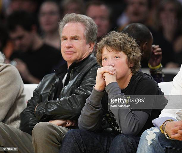 Photo of Warren Beatty  & his  Son  Benjamin Beatty