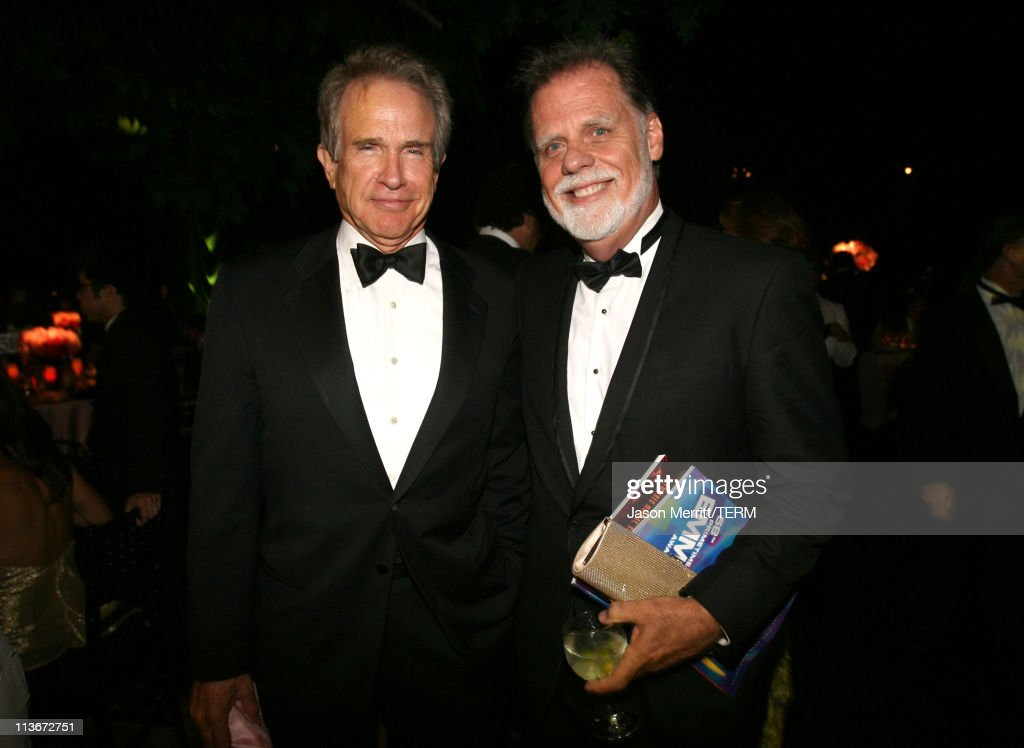 Warren Beatty and Taylor Hackford during 58th Annual Primetime Emmy Awards - Governors Ball at The Shrine Auditorium in Los Angeles, California, United States.