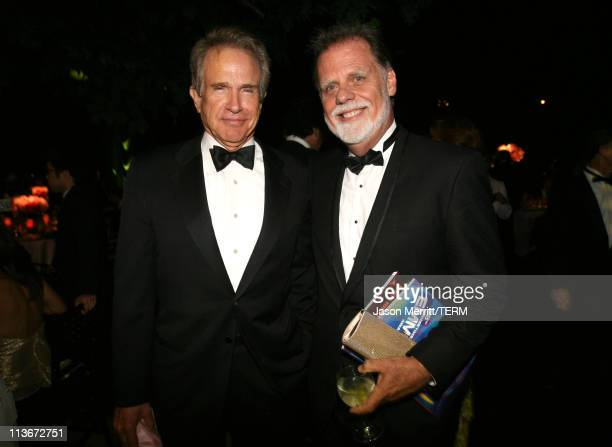 Warren Beatty and Taylor Hackford during 58th Annual Primetime Emmy Awards Governors Ball at The Shrine Auditorium in Los Angeles California United...