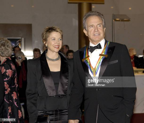 Warren Beatty and wife Annette Bening during The Kennedy Center Honors Weekend at Kennedy Center in Washington DC Washington DC United States