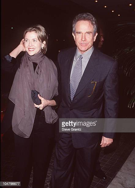 Warren Beatty Annette Bening during The 24th Annual Los Angeles Film Critics Association Awards at Bel Age Hotel in Los Angeles California United...