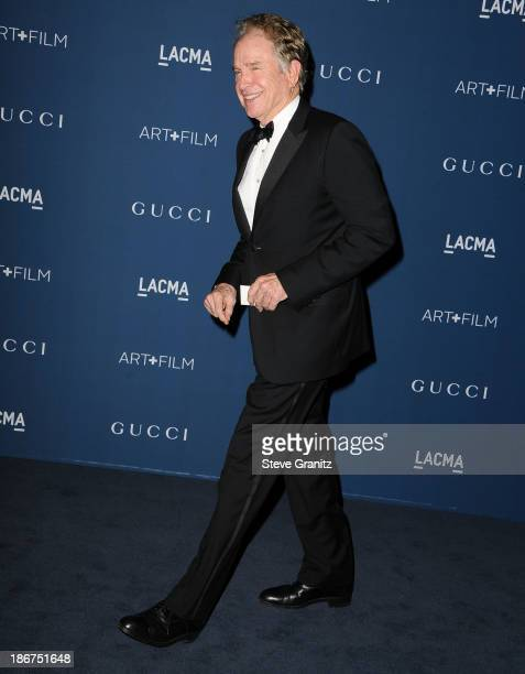 Warren Beatty arrives at the LACMA 2013 Art Film Gala at LACMA on November 2 2013 in Los Angeles California