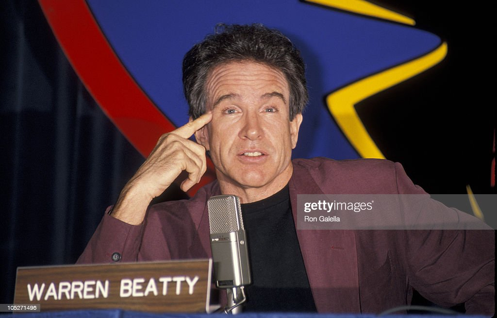 Warren Beatty during Press Conference For 'Dick Tracy' at Disney