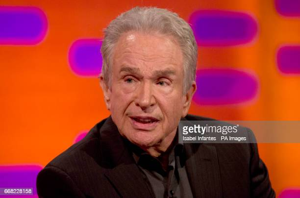 Warren Beatty during the filming of the Graham Norton Show at The London Studios to be aired on BBC One on Friday