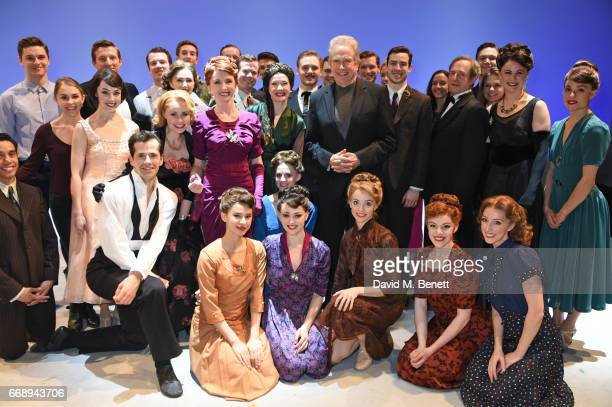 Warren Beatty poses backstage with cast members including Robert Fairchild Zoe Rainey Jane Asher Leanne Cope David SeadonYoung Haydn Oakley and...