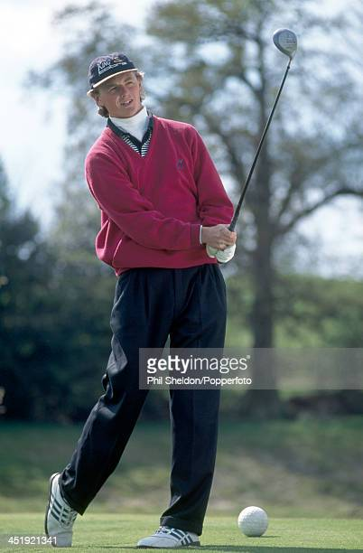 Warren Bennett of Great Britain in action with his Cobra golf club circa 1995