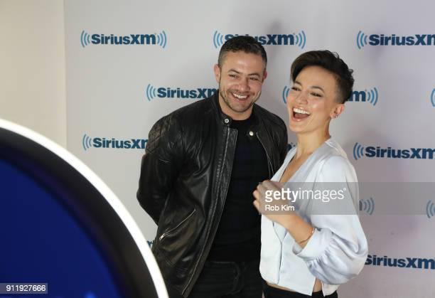 Warren Brown and Alin Sumarwata visit SiriusXM Studios on January 29 2018 in New York City