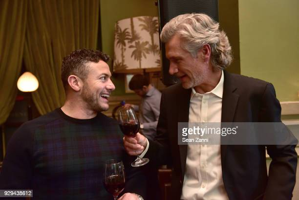 Warren Brown and David Wideroe attend as Ovation TV hosts 20182019 Programming Preview at Soho Grand Hotel on March 8 2018 in New York City