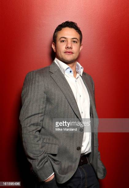 Warren Brown poses in the portrait studio at the PreBafta party hosted by EE and Esquire ahead of the 2013 EE British Academy Film Awards at The...