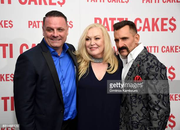 Warren Bub Cathy Moriarty and Wass Stevens attend the 'Patti Cake$' New York Premiere at The Metrograph on August 14 2017 in New York City