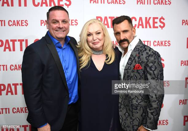 Warren Bub Cathy Moriarty and Wass Stevens attend the Patti Cake$ New York Premiere at The Metrograph on August 14 2017 in New York City