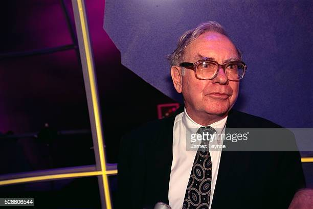 Warren Buffet, the largest shareholder of Capital Cities/ABC, attends an event in Manhattan announcing the takeover of the broadcasting company by...