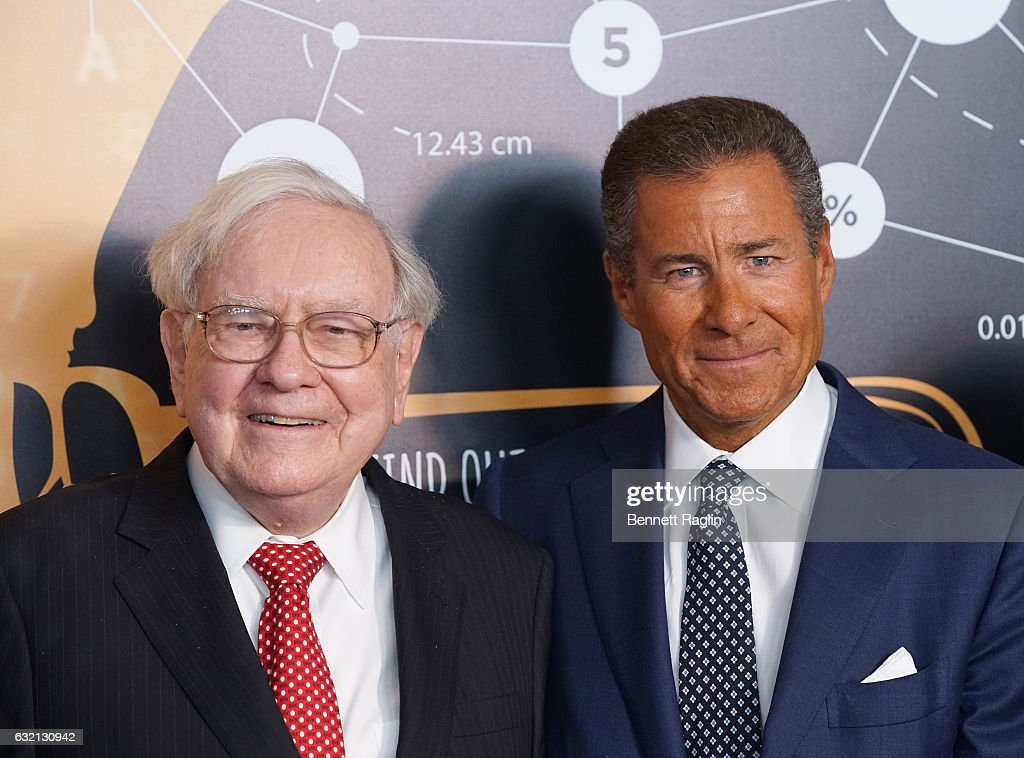 Warren Buffett and CEO of HBO Richard Plepler attend 'Becoming Warren Buffett' World premiere at The Museum of Modern Art on January 19, 2017 in New York City.