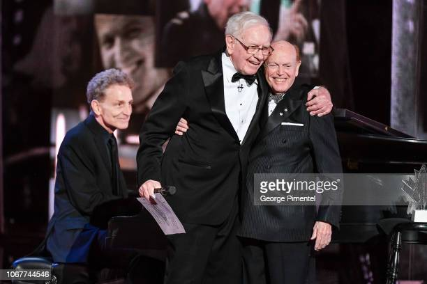 Warren Buffett and Jimmy Pattison attend 2018 Canada's Walk Of Fame Awards held at Sony Centre for the Performing Arts on December 1 2018 in Toronto...