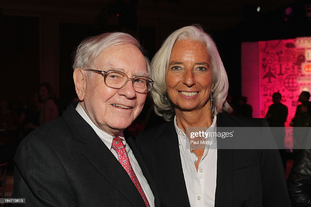 Warren Buffett and Managing Director of the IMF Christine Lagarde attend the FORTUNE Most Powerful Women Summit on October 15, 2013 in Washington, DC.