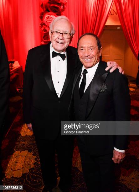 Warren Buffett and Paul Anka attend 2018 Canada's Walk Of Fame Awards held at Sony Centre for the Performing Arts on December 1 2018 in Toronto Canada