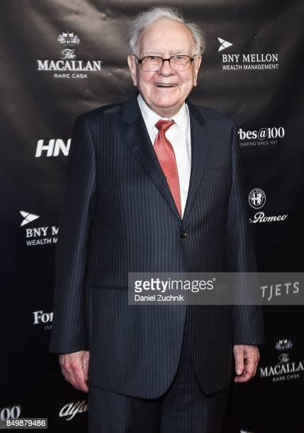 Warren Buffett attends the Forbes Media Centennial Celebration at Pier 60 on September 19 2017 in New York City