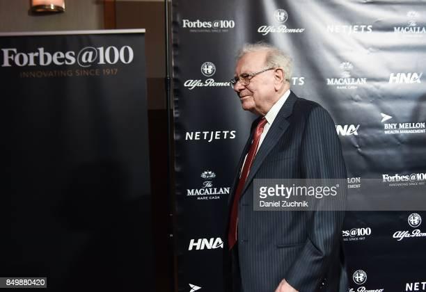 Warren Buffett attends the Forbes Media Centennial Celebration at Pier 60 on September 19 2017 in New York City