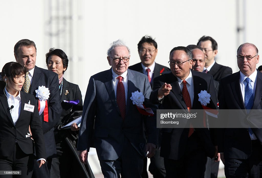 Warren Buffett Attends Opening Of Tungaloy's New Plant : News Photo