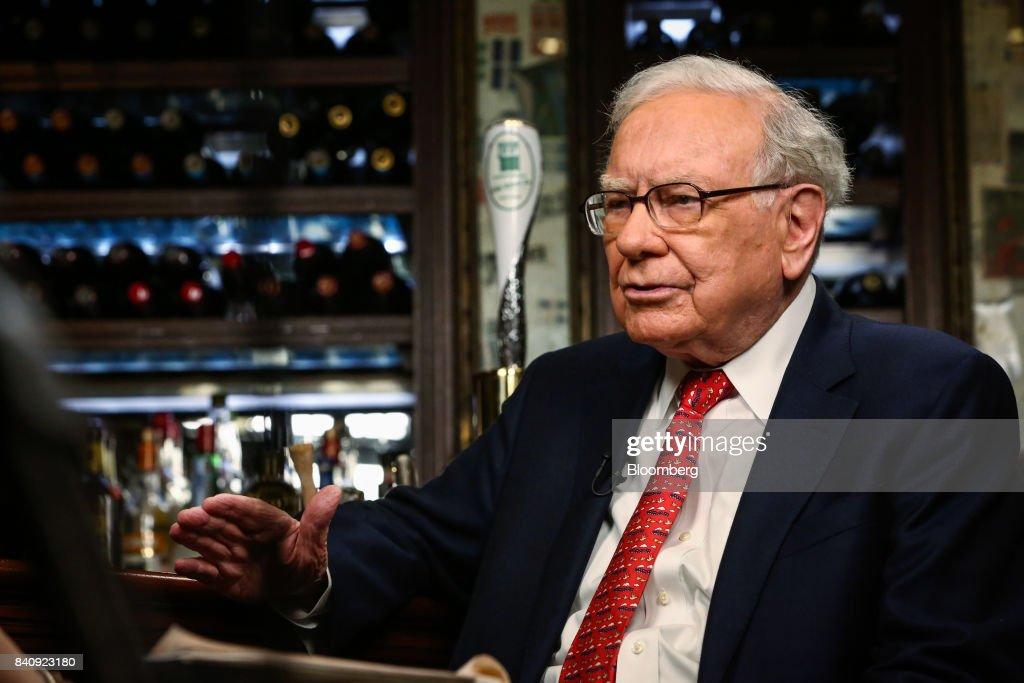 Berkshire Hathaway Inc. Chief Executive Officer Warren Buffett Interview : News Photo