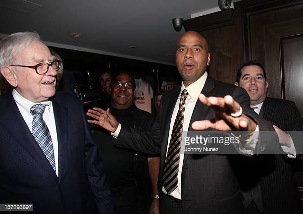 Warren Buffett OG' Juan Perez and Ron Berkowitz attend the grand reopening of JayZ's 40/40 Club on January 18 2012 in New York City