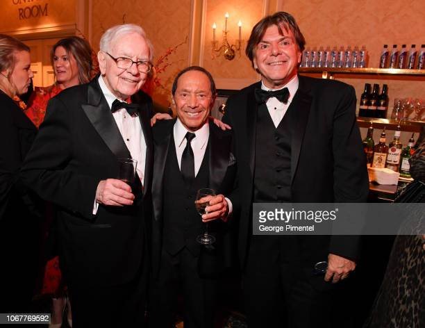 Warren Buffett Paul Anka and Randy Lennox attend 2018 Canada's Walk Of Fame Awards held at Sony Centre for the Performing Arts on December 1 2018 in...
