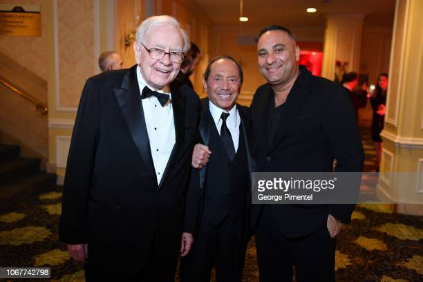 Warren Buffett Paul Anka and Russell Peters attend 2018 Canada's Walk Of Fame Awards held at Sony Centre for the Performing Arts on December 1 2018...