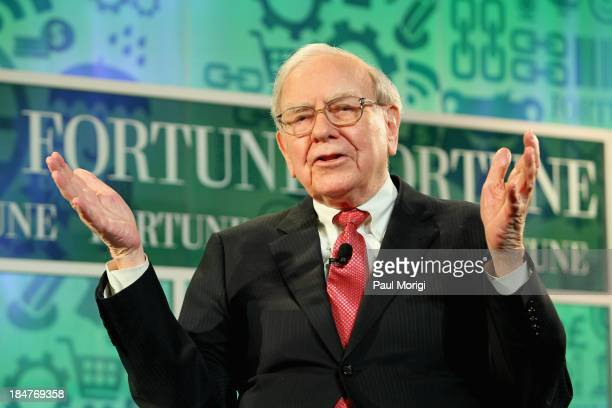 Warren Buffett speaks onstage at the FORTUNE Most Powerful Women Summit on October 16 2013 in Washington DC