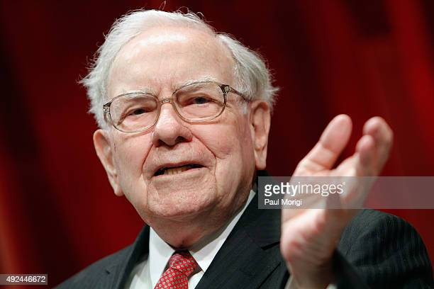Warren Buffett speaks onstage during Fortune's Most Powerful Women Summit - Day 2 at the Mandarin Oriental Hotel on October 13, 2015 in Washington,...