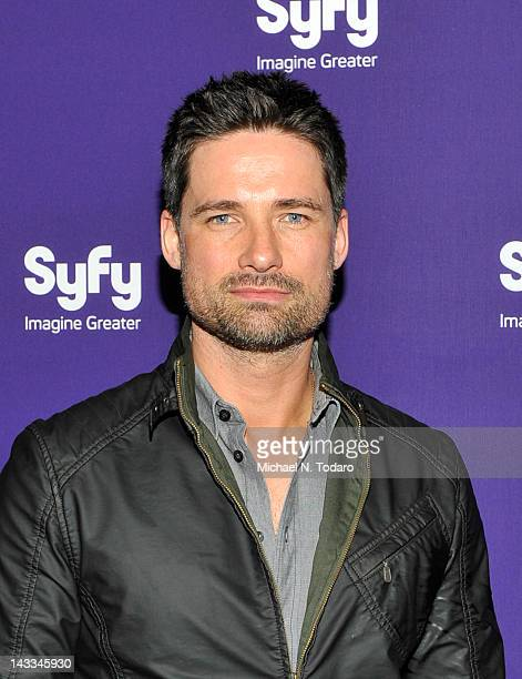 Warren Christie attends the Syfy 2012 Upfront event at the American Museum of Natural History on April 24 2012 in New York City