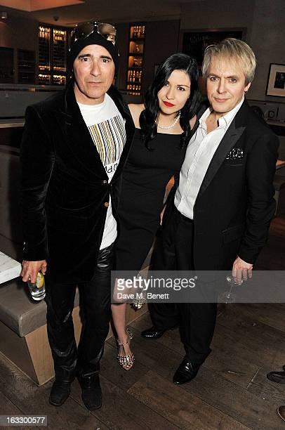 Warren Cuccurullo Nefer Suvio and Nick Rhodes attend an after party celebrating Duran Duran keyboardist Nick Rhodes' exhibition 'BEI INCUBI Beautiful...
