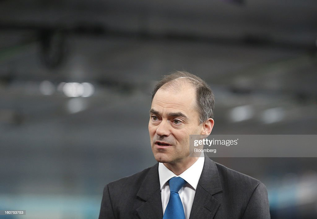 Warren East, chief executive officer of ARM Holdings Plc, speaks during a Bloomberg Television interview in London, U.K., on Tuesday, Feb. 5, 2013. ARM Holdings Plc, whose chip designs power Apple Inc.'s iPhone and iPad, reported fourth-quarter sales that rose more than analysts predicted as demand for smartphones and tablets surged. Photographer: Simon Dawson/Bloomberg via Getty Images