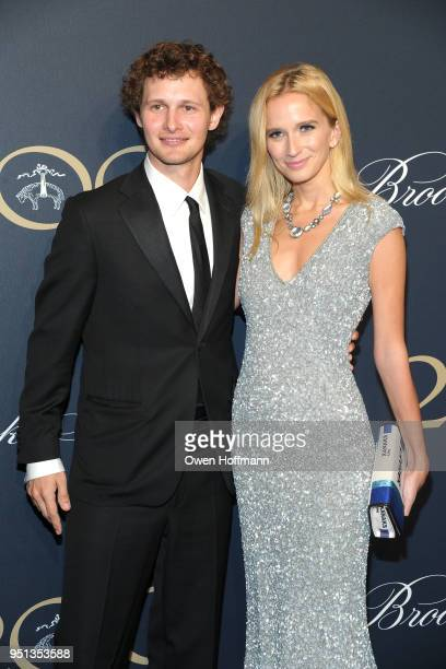 Warren Elgort and Kristen Simmons attends Brooks Brothers Bicentennial Celebration on April 25 2018 in New York City