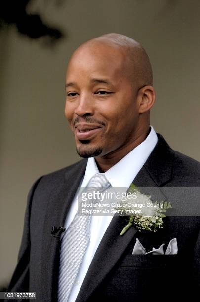 8/1/05 Warren G is interviewed during the opening of Warren G's Willie McGinest Freedom School at Sutter Academy in Long Beach Calif on August 1 2005...