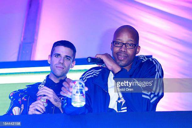 Warren G performs at the Snoop Dogg Presents Colt 45 Works Every Time at The Playboy Mansion Party with Evan and Daren Metropulos on October 19 2012...