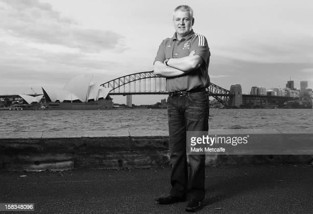Warren Gatland Head Coach of The British Irish Lions visits Sydney with HSBC Principal Partner of The British Irish Lions at Mrs Macquarie's Chair on...