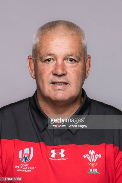 Warren Gatland Head Coach of Wales poses for a portrait during the Wales Rugby World Cup 2019 squad photo call on on September 17 2019 in Kitakyushu...