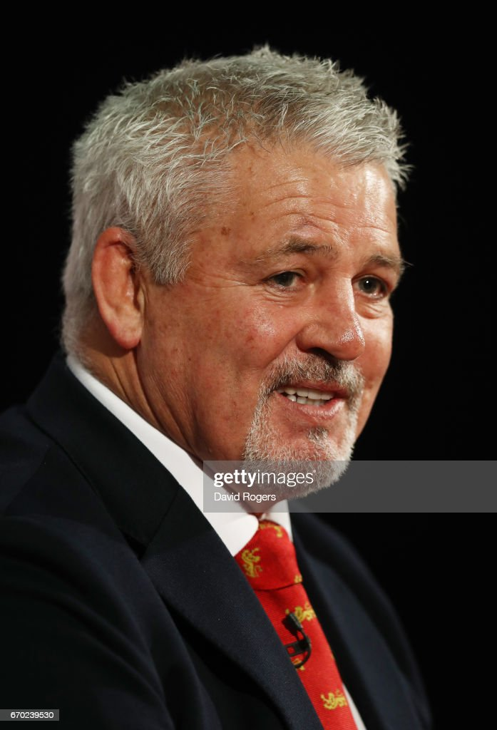 Warren Gatland (Head Coach) speaks to the media during the British and Irish Lions tour squad announcement at the Hilton London Syon Park Hotel on April 19, 2017 in London, England.