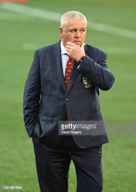 Warren Gatland, the Lions head coach looks on during the 2nd test match between South Africa Springboks and the British & Irish Lions at Cape Town...