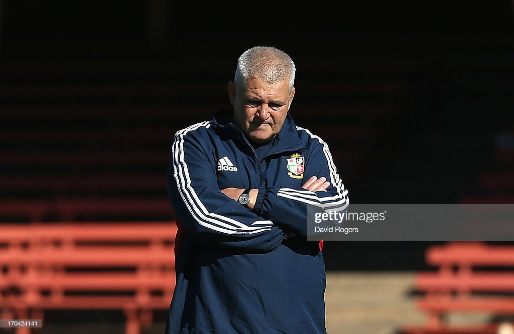 Warren Gatland, the Lions head coach, looks on during the British and Irish Lions training session at North Sydney Oval on June 13, 2013 in Sydney, Australia.
