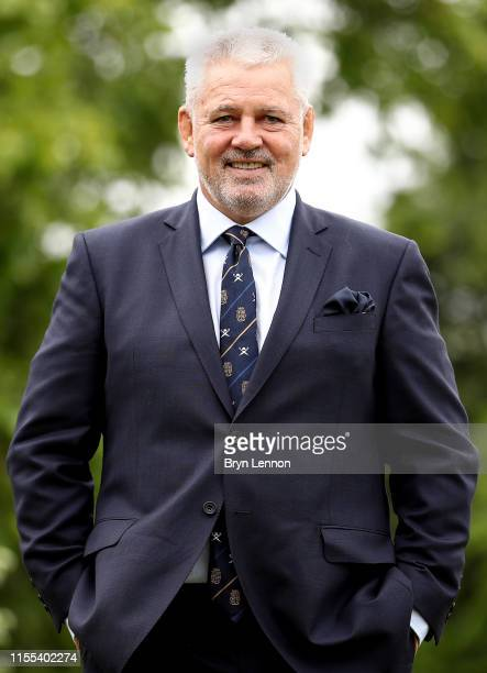 Warren Gatland the newly appointed British and Irish Lions Head Coach poses for a photo during the British and Irish Lions Head Coach Announcement at...