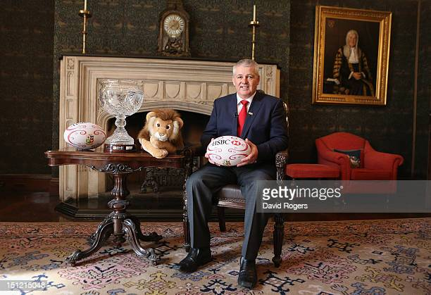 Warren Gatland who has been appointed head coach of the British and Irish Lions for the tour to Australia in 2013 poses at Ironmonger's Hall on...