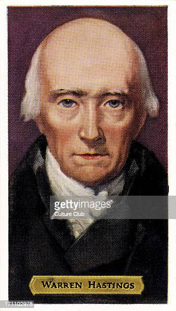 Warren Hastings English politician and first governorgeneral of British India WH 6 December 1732 22 August 1818