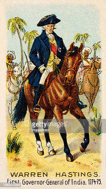 Warren Hastings the first Governor General of India featured on a vintage cigarette card produced circa 1900 Warren Hastings was the first...