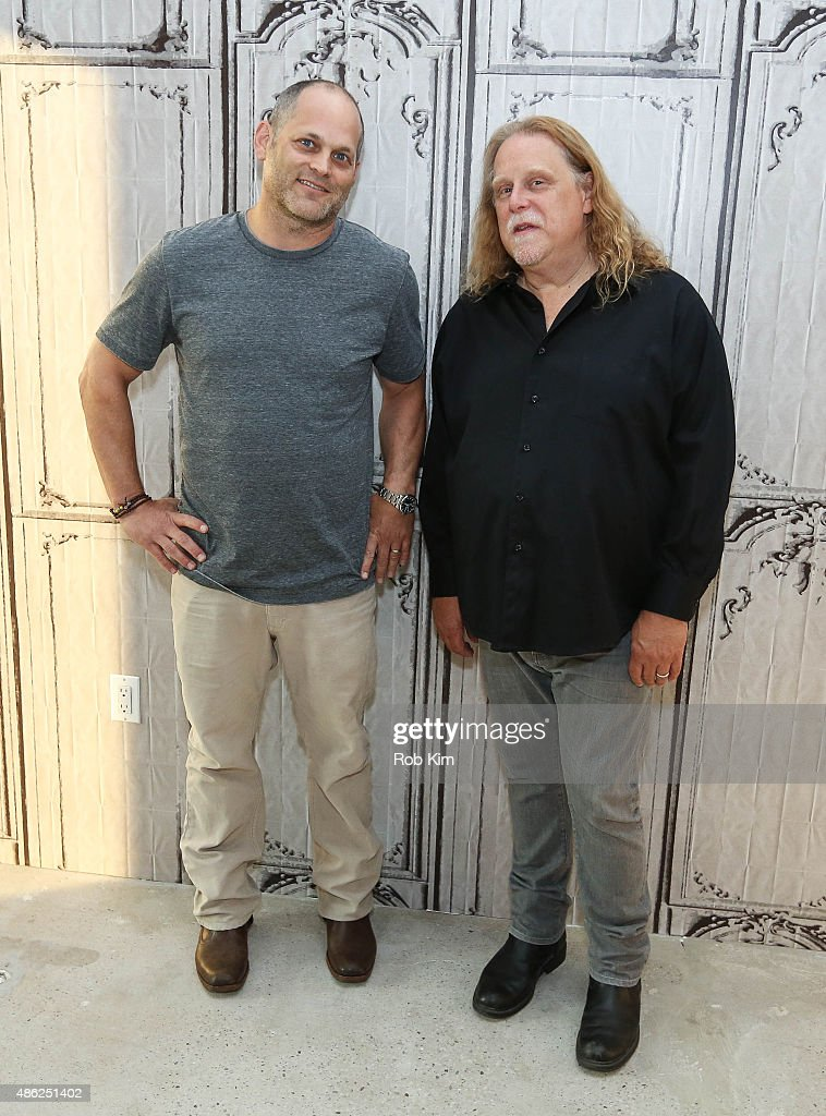 Warren Haynes (R) and Alan Paul attend the AOL BUILD Speaker Series: Warren Haynes Discusses His New Album 'Ashes And Dust' at AOL Studios In New York on September 2, 2015 in New York City.