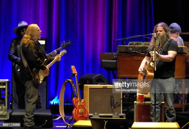 """Warren Haynes and Jamey Johnson perform during the """"Last Waltz 40 Tour"""" at The Masonic Auditorium on April 15, 2017 in San Francisco, California."""