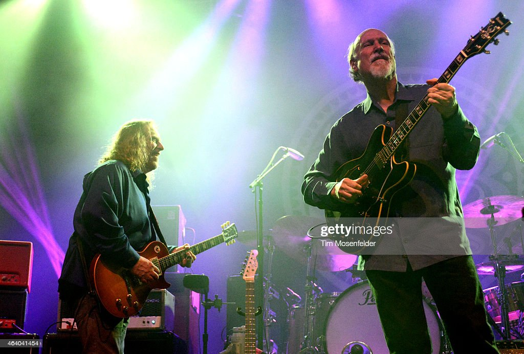 Warren Haynes (L) and John Scofield and Gov't Mule perform in support of the band's ' Sco-Mule' release at The Fox Theater on February 20, 2015 in Oakland, California.
