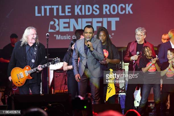 Warren Haynes and Steve Miller perform onstage with students of Little Kids Rock during the Little Kids Rock Benefit 2019 at PlayStation Theater on...
