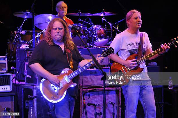 Warren Haynes Butch Trucks and Derek Trucks with 'The Allman Brothers' performing at the Fillmore Auditorium in Denver Colorado on August 13 2001