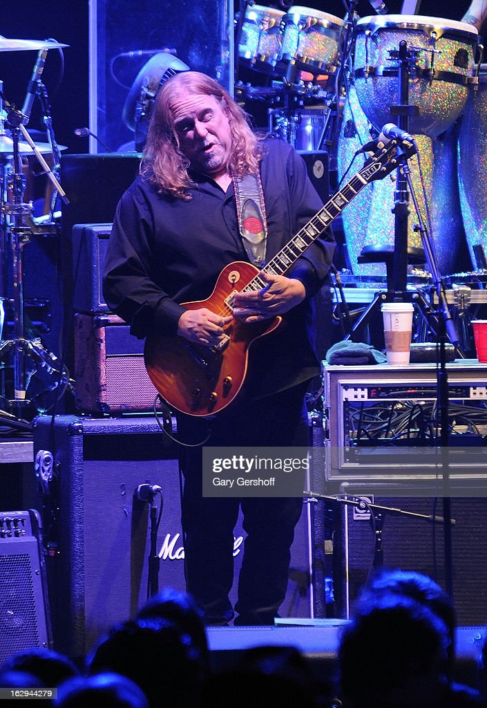 Warren Haynes of The Allman Brothers band performs at the Beacon Theatre on March 1, 2013 in New York City.